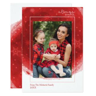Cartão com fotos sempre alegre, moderno do feriado