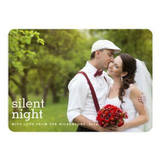 Cartão com fotos silencioso do Feliz Natal dois da Convite 12.7 X 17.78cm