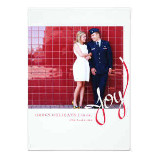 Cartão com fotos simples baseado num guião do convite