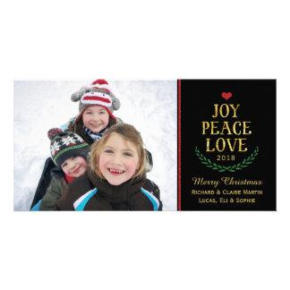 Cartão com fotos simples do Falso-Brilho do amor Cartão Com Foto