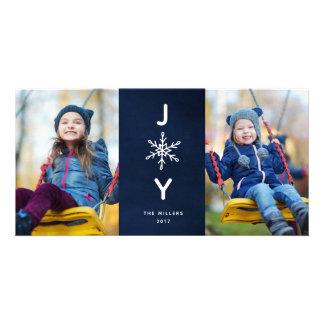 Cartão com fotos simples do feriado 2 da alegria