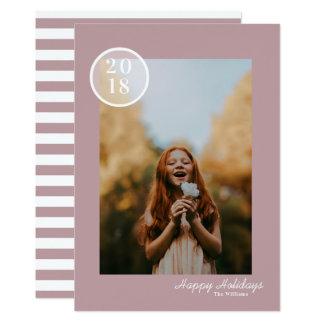 Cartão com fotos simples & moderno do feriado