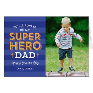 Cartão com fotos super do dia dos pais do pai
