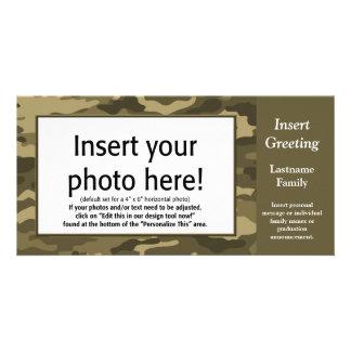 Cartão com fotos - Tan Camo (feriado, família, out