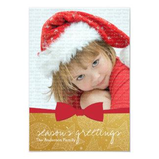 Cartão com fotos vermelho do feriado do Natal da Convite Personalizado