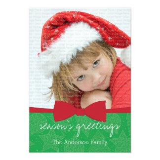 Cartão com fotos vermelho do feriado do Natal da Convite Personalizados