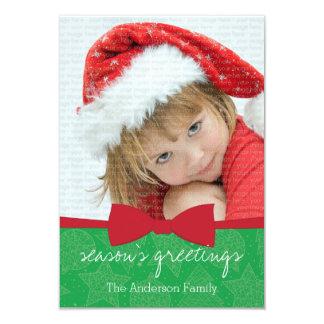 Cartão com fotos vermelho do feriado do Natal da Convites Personalizado