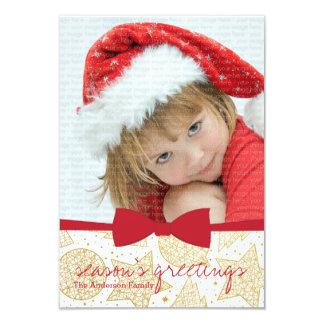 Cartão com fotos vermelho do feriado do Natal da Convites