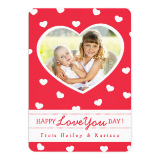 Cartão com fotos/vermelho dos namorados dos convite 12.7 x 17.78cm