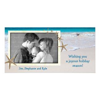 Cartão com fotos vivo litoral do feriado da