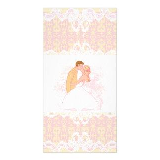 cartão com fotos wedding do casal cartão com foto