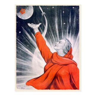 Cartão com impressão da propaganda de URSS do vint Cartões Postais