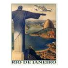 Cartão com impressão de Rio de Janeiro do vintage
