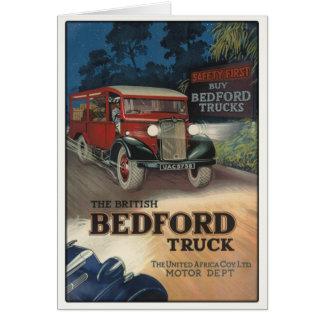 Cartão com impressão do caminhão de Bedford do