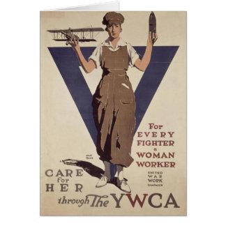 Cartão com impressão do poster da propaganda de