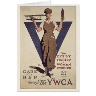Cartão com impressão do poster da propaganda de WW