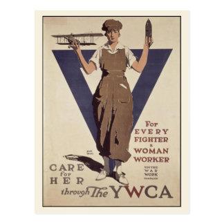 Cartão com impressão do poster da propaganda de WW Cartão Postal