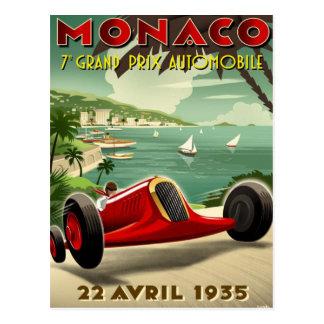 Cartão com o motor do vintage que compete o poster