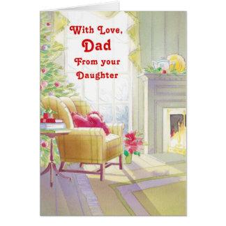 Cartão Com o pai do amor de sua filha