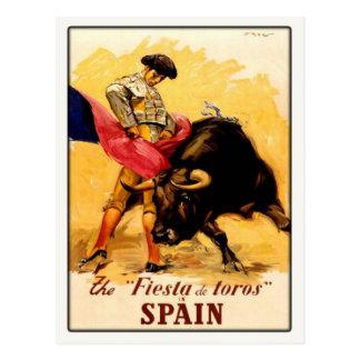 Cartão com o poster espanhol do Bullfight Cartão Postal