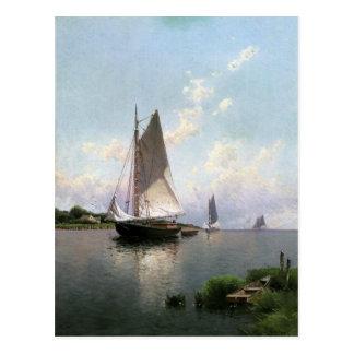 Cartão com pintura de Alfred Thompson Bricher