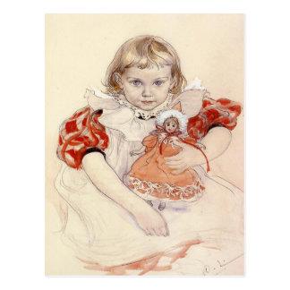 Cartão com pintura de Carl Larsson