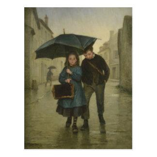 Cartão com pintura de Edouard Frere