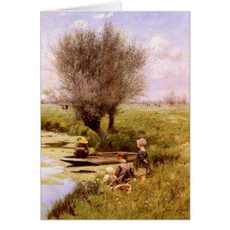 Cartão com pintura de Emile Claus
