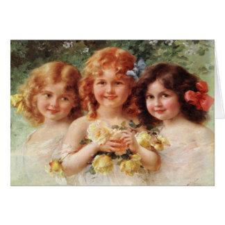 Cartão com pintura de Emile Vernon