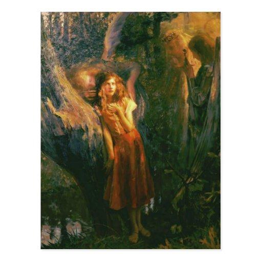 Cartão com pintura de Gaston Bussiere Cartão Postal
