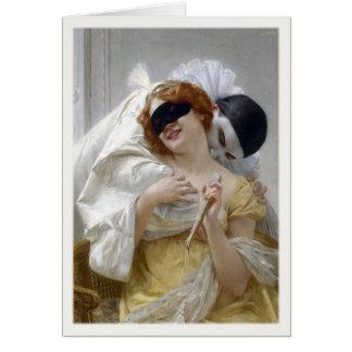 Cartão com pintura de Guilherme Seignac