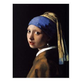 Cartão com pintura de Johannes Vermeer