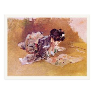 Cartão com pintura de Robert Frederick Blum