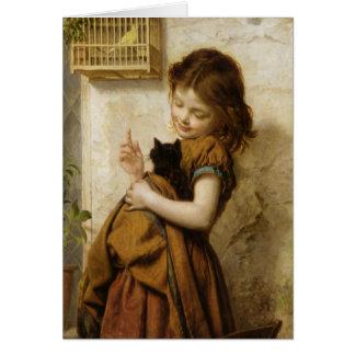 Cartão com pintura de Sophie G. Anderson