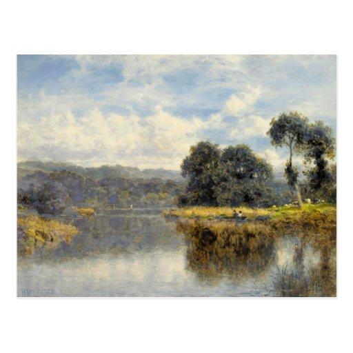 Cartão com pintura do líder de Benjamin Williams Cartao Postal