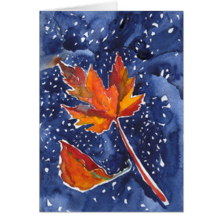 Cartão com pintura mágica da folha