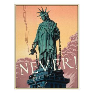 Cartão com propaganda americana do vintage WWII Cartão Postal