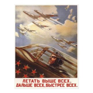 Cartão com propaganda da força aérea de URSS do vi Cartão Postal