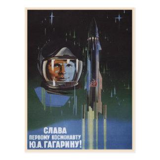 Cartão com propaganda de União Soviética do vintag Cartoes Postais