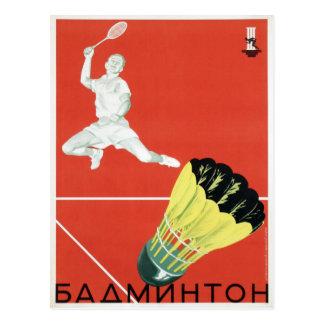 Cartão com propaganda do esporte de URSS do vintag Cartoes Postais