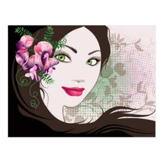 Cartão com retrato da menina