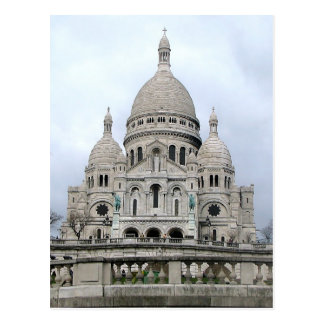 Cartão com Sacre Coeur de Paris