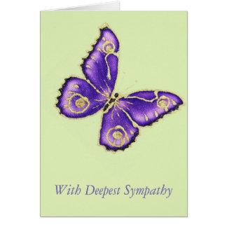 Cartão Com simpatia a mais profunda
