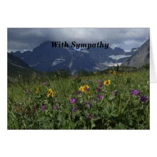 Cartão Com simpatia, Wildflowers da montanha