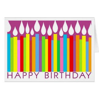 Cartão com velas - general do feliz aniversario