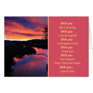 Cartão Com você… romance