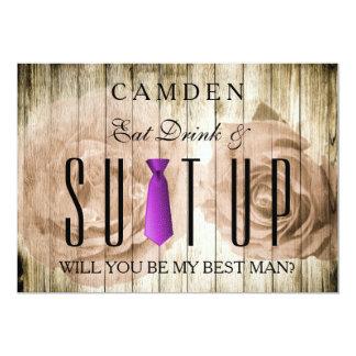 Cartão Coma a bebida & a vontade que de madeira de Suitup