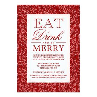 Cartão Coma a bebida & seja alegre
