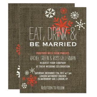 Cartão Coma a bebida seja serapilheira rústica casada do