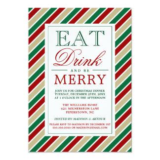 Cartão Coma a bebida & seja xadrez alegre do Natal de |